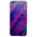 Blauw paarse driehoek hoes hardcase iPhone 6 6s cover_