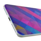Blauw paarse driehoek iPhone 7 Plus 8 Plus hardcase hoesje cover_