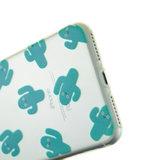 Doorzichtig cactus TPU hoesje iPhone 7 Plus 8 Plus case cover_