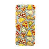Transparant Pizza hoesje iPhone 6 6s case cover TPU doorzichtig_