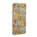 Transparant Pizza hoesje iPhone 6 Plus 6s Plus case cover TPU cover_