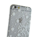 Wit winter kerst silicone iPhone 6 6s hoesje case cover_