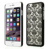 Zwart Barok hoesje iPhone 6 6s hardcase case henna damask flower_