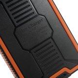 Zon oplaadbare oranje zwarte powerbank 10000 mAh outdoor accu solar_