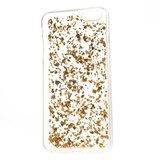 Doorzichtig hoesje met bladgoud iPhone 6 en 6s Gouden TPU cover_
