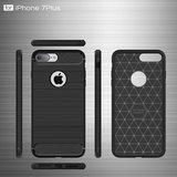 Zwart Carbon Armor iPhone 7 Plus 8 Plus TPU hoesje_