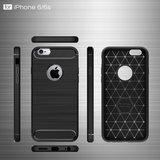 Zwart Carbon Armor iPhone 6 Plus 6s Plus TPU hoesje_