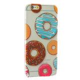Doorzichtig donut TPU iPhone 6 6s hoesje case_