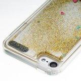 Doorzichtig hoesje iPod Touch 5 6 7 goud glitter bewegend cover_