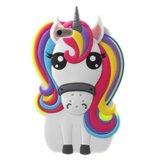 Rainbow Unicorn silicone case iPhone 6 Plus 6s Plus hoesje - Eenhoorn Regenboog_