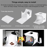 Puluz Vouwbare Fotostudio Lightroom Box LED - Draagbare tent 6 kleuren achtergrond_