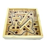 Houten knikkerpuzzel - Doolhof Maze Balans_