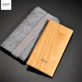 Hoco B10 Powerbank Hout patroon - 7000mAh - Quick Charge Snellader_