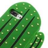 Silicone cactus case iPhone 7 Plus 8 Plus hoesje - Groen_