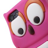 Uil 3D silicone hoesje iPod Touch 5 6 7 - Felroze Wit_