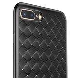 Baseus Weaving Case geweven TPU hoesje iPhone 7 Plus 8 Plus - Zwart_