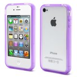 iPhone 4 4S 4G bumper case hoesje silicone - Paars_