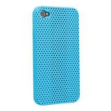 Mesh iPhone 4 4S Case gaatjes hoesje hardcase - Lichtblauw_