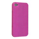 Mesh iPhone 4 4S Case gaatjes hoesje hardcase - Roze_