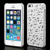 iPhone 4 4s vogelnest hoesje cover case bird nest ontwerp - Wit_