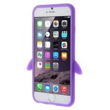 Pinguin silicone 3D hoesje iPhone 6 6s - Paars_