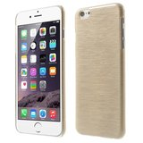 Brushed hardcase hoesje iPhone 6 6s - Beige_