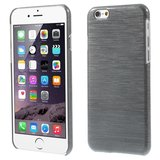 Brushed hardcase hoesje iPhone 6 6s - Grijs_