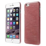 Brushed hardcase hoesje iPhone 6 6s - Rood_