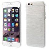 Brushed hardcase iPhone 6 Plus 6s Plus hoesje - Wit_