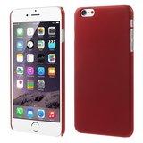 Stevige gekleurde hardcase iPhone 6 Plus 6s Plus Hoesje - Rood_