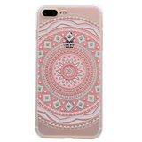 Mandala hoesje TPU patroon case iPhone 7 Plus 8 Plus - Pastel_