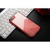 Sulada Doorzichtig iPhone 7 Plus 8 Plus TPU hoesje - Rood Metallic_