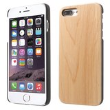 Licht houten hoesje wood case iPhone 7 Plus 8 Plus - Lichtbruin_