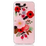 Bloem tak hoesje TPU iPhone 7 Plus 8 Plus - Kleurrijk Doorzichtig_