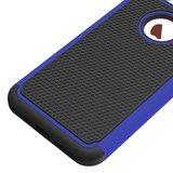 iPhone 7 Plus 8 Plus nopjes hybride Siliconen Kunststof tweedelig hoesje - Blauw Zwart_