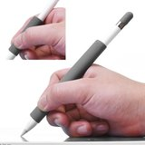 Silicone Antislip Grip voor Apple Pencil 4 delige extra Bescherming - Grijs_