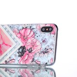 Diamant hoesje TPU iPhone XS Max Case - Roze_
