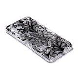 Doorzichtig Henna Bloemen iPhone XS Max TPU hoesje - Zwart_