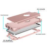 Armor Schokbestendig Silicone Polycarbonaat iPod Touch 5 6 7 hoesje - Roze_