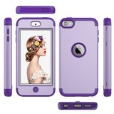 Armor Schokbestendig Silicone Polycarbonaat iPod Touch 5 6 7 hoesje - Paars_