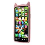 Flexibel kitten hoesje schattig kat case iPhone XS Max - Roze_