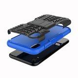 Hybride standaard case shockproof hoesje iPhone XS Max - Blauw_