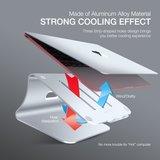 Bestand Ergonomische Aluminium Laptop Macbook houder standaard stand - Zilver_