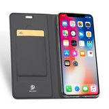 Dux Ducis Cover booklet case hoesje met flap leren hoes iPhone XR - Zwart_