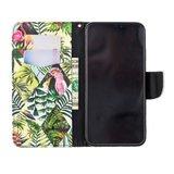 Cover Booklet case hoesje jungle bladeren design iPhone XS Max - Bladeren_