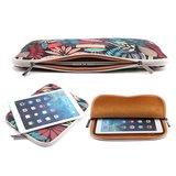Insteekhoes sleeve tablet etui canvas bladeren kleurrijk iPad mini - Zwart_
