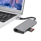 Multifunctionele USB C Multi-poort Hub met 4K HDMI SD TF kaartlezer 2 USB 3.0 Poorten RJ45 Gigabit Ethernet Adapter voor Macbook Pro_