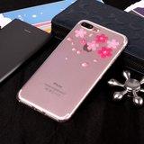 Bloem TPU Hoesje iPhone 7 Plus 8 Plus cover - Doorzichtig_