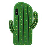 Cactus Silicone Hoesje iPhone XS Max cover - Groen case_