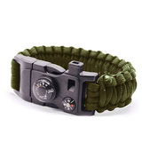 Survivor armband 9 Functies - Leger Groen Kamperen Rescue_